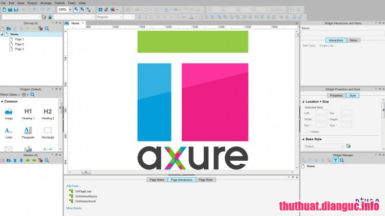 Download Axure RP 8.1.0.3381 Full Cr@ck – Phần mềm thiết kế website