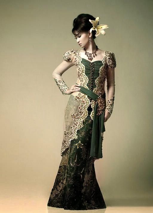 gambar model baju muslim kebaya wisuda model baju kebaya ...