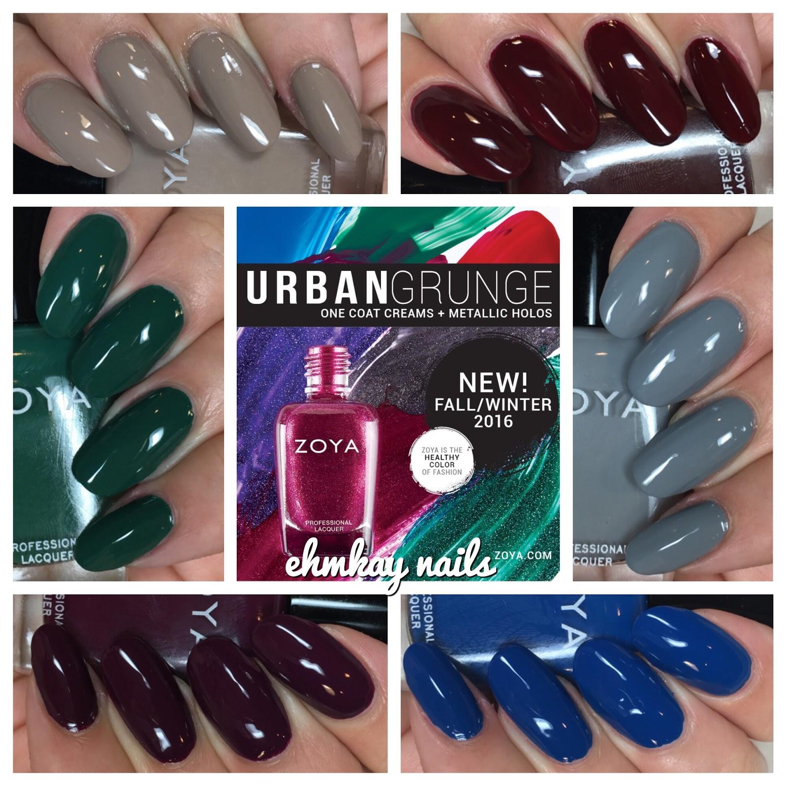 ehmkay nails: Zoya Urban Grunge Cremes for Fall 2016 + Comparisons