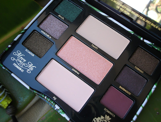 Viva La Diva Move Me Jungle eyeshadow kit: eyeshadows pans and names