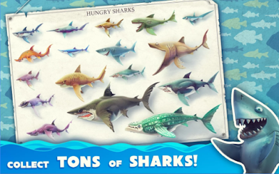 Downlaod Hungry Shark World MOD APK DATA Unlimited Money Versi 1.2.2
