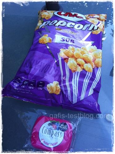 Chio Popcorn und Compass Powermints