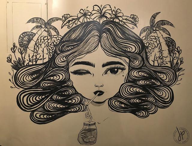 Pallete Cafe wall art