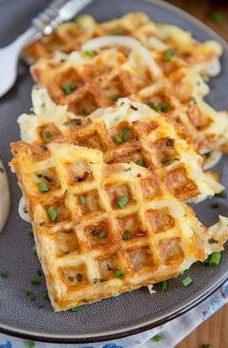 EGG & CHEESE HASH BROWNS WAFFLES