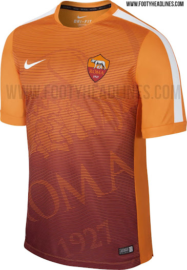 new style d8858 ac01d AS Roma 2015 Pre-Match II Jersey