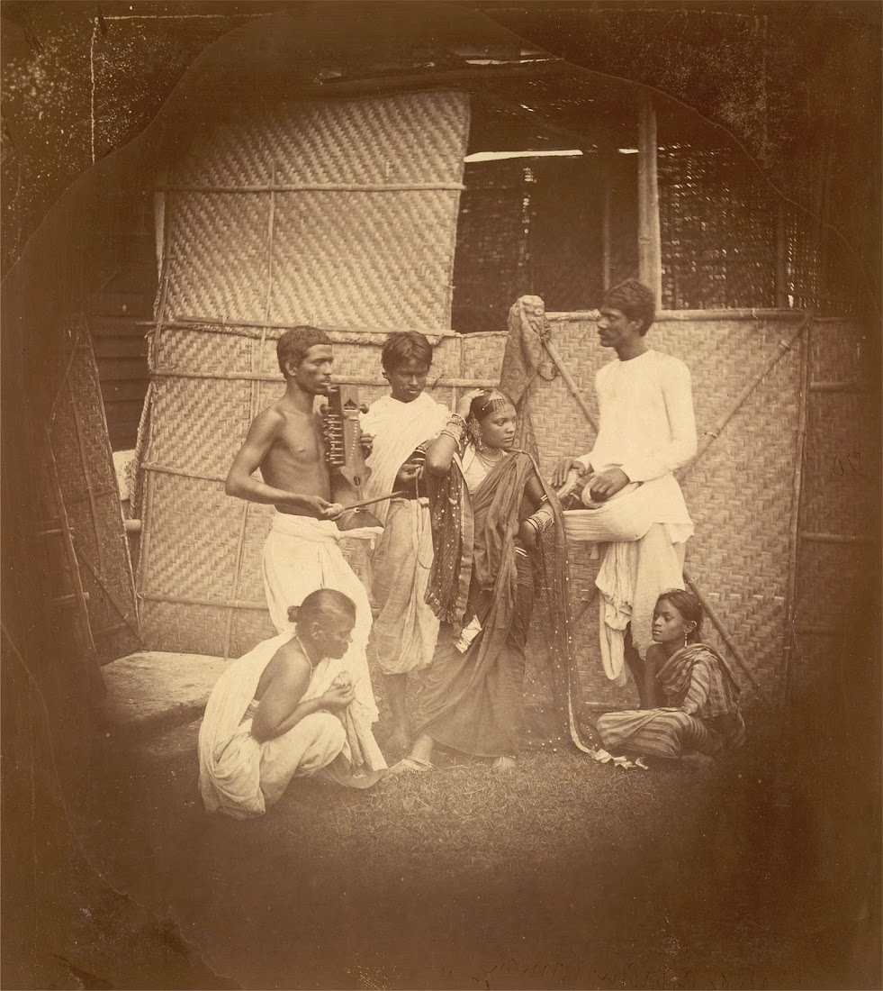 Group of Musicians and Dancers - Eastern Bengal 1860's