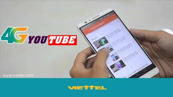 Cách đăng ký gói 4GYoutube Viettel