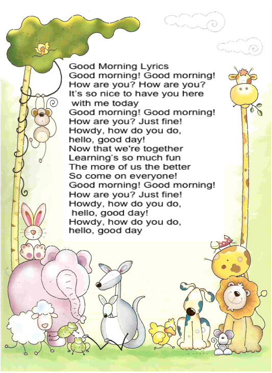 english second grade good morning song. Black Bedroom Furniture Sets. Home Design Ideas
