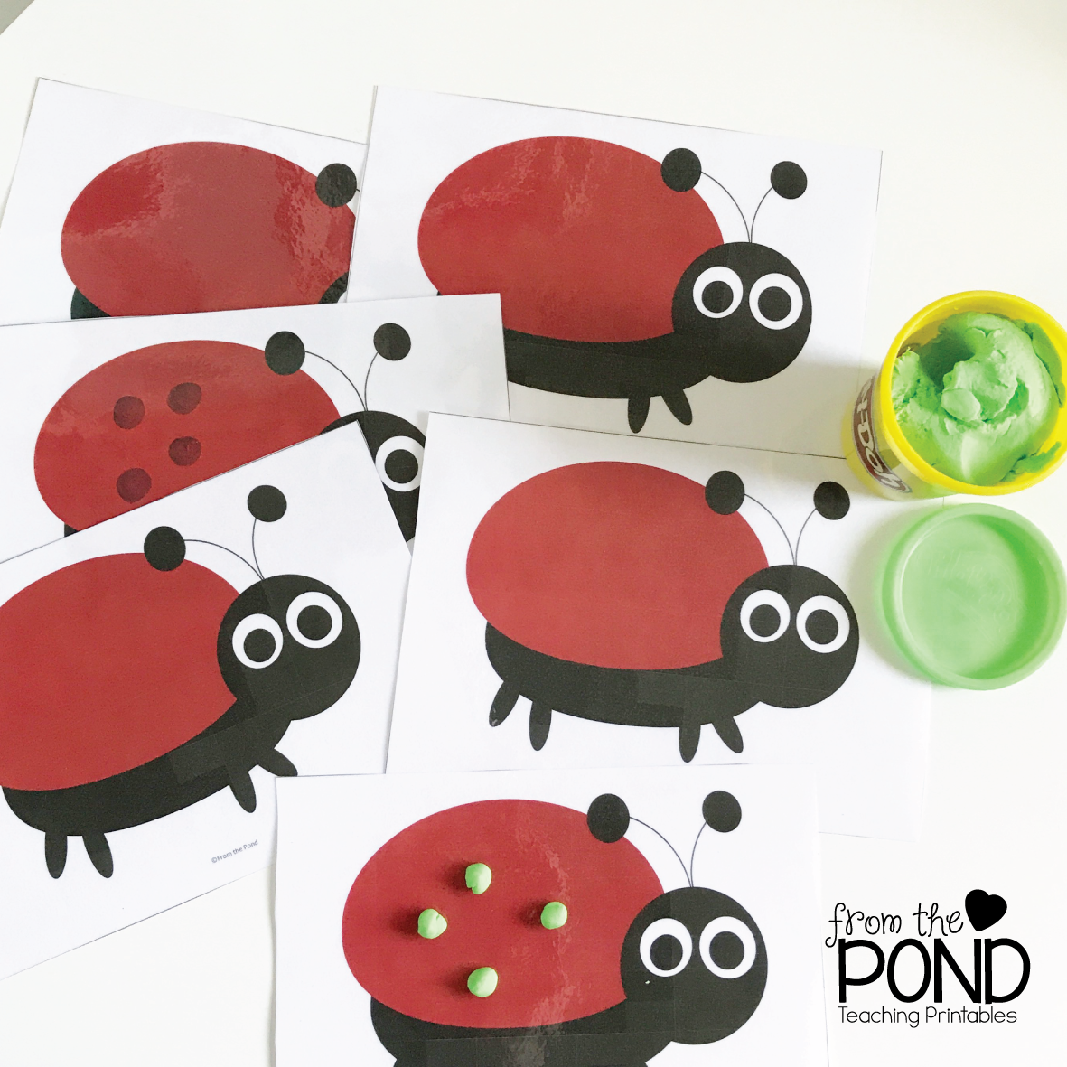 ladybug subtraction game monday memory frog spot