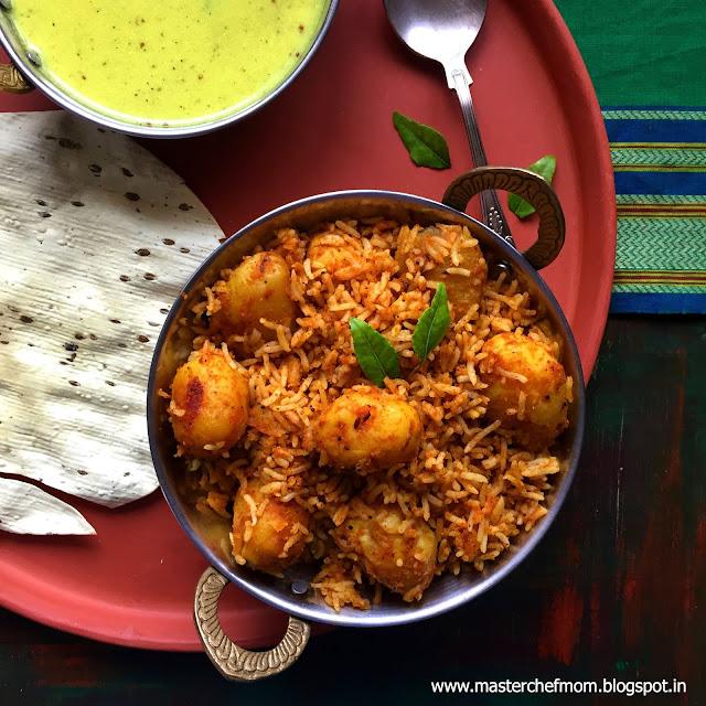Urulai Masala Sadam | Baby Potato Masala Rice
