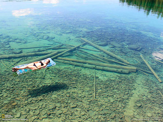 transparent water in northwest montana