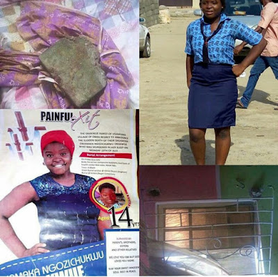Tears! This beautiful 14- year-old schoolgirl was raped to death at Satelite, Lagos
