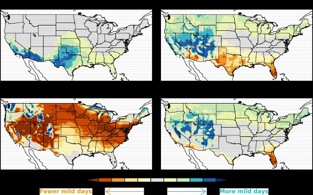 Climate change to shift global pattern of mild weather
