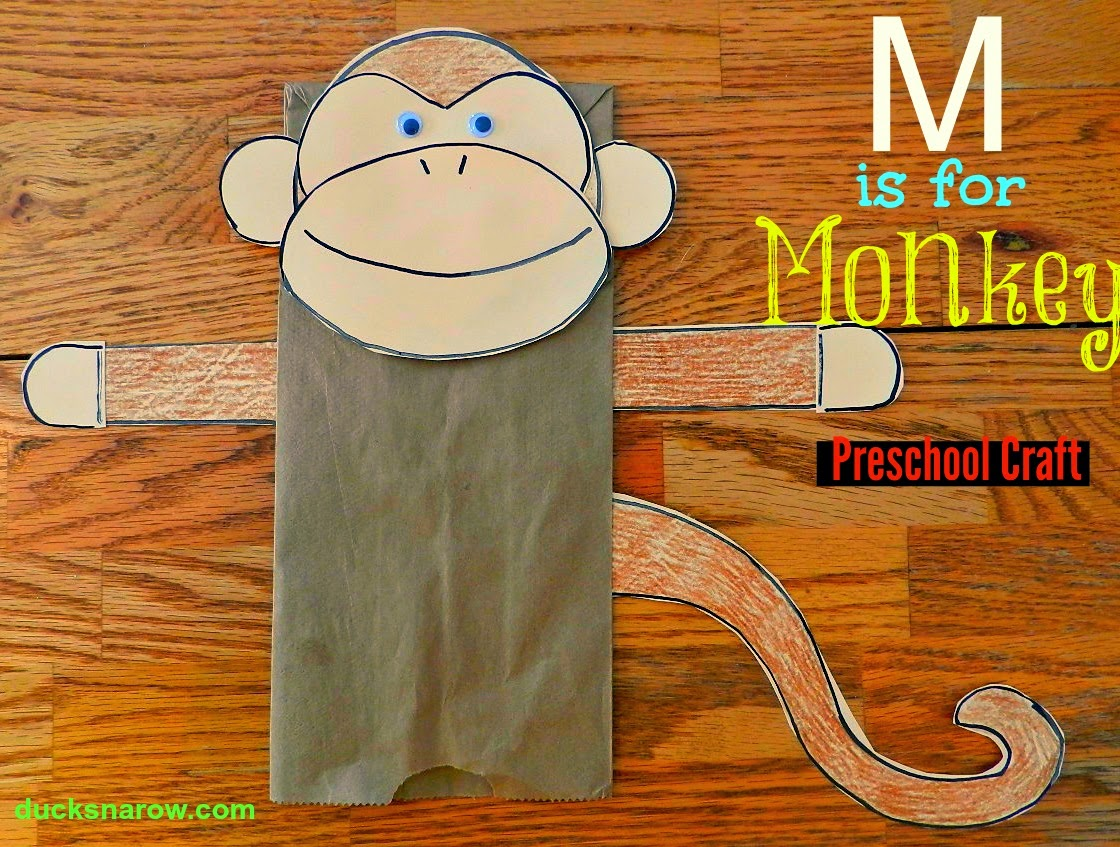 Ducks N A Row Make A Fun Paper Bag Monkey Puppet With Your Preschoolers
