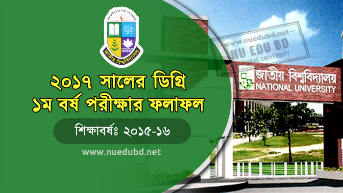 NU Degree 1st Year Exam Result 2017