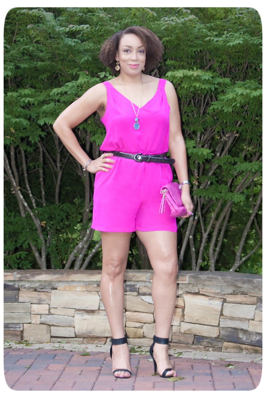 Review: Simplicity 1355 | A Bold Magenta Silk Romper!