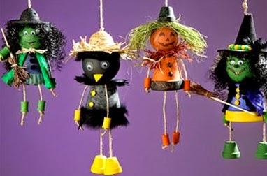 macetas recicladas para halloween decoracion. Black Bedroom Furniture Sets. Home Design Ideas