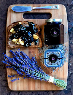 Toast with Organic Culinary Lavender and Lavender Chocolate Sauce