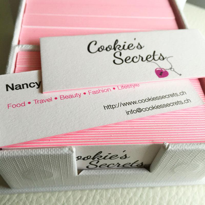 Cookie S Secrets Definitiv Keine 0815 Visitenkarten
