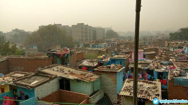 Delhi - Diwali 2016 After Effects Air Pollution Air Breathe Problem, Slum Area Pics India Poor