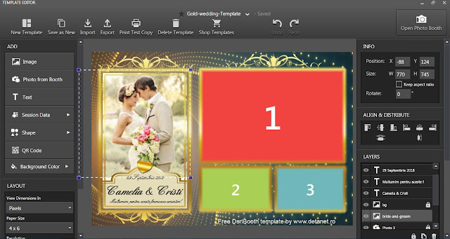 Free Dsrlbooth template for Wedding
