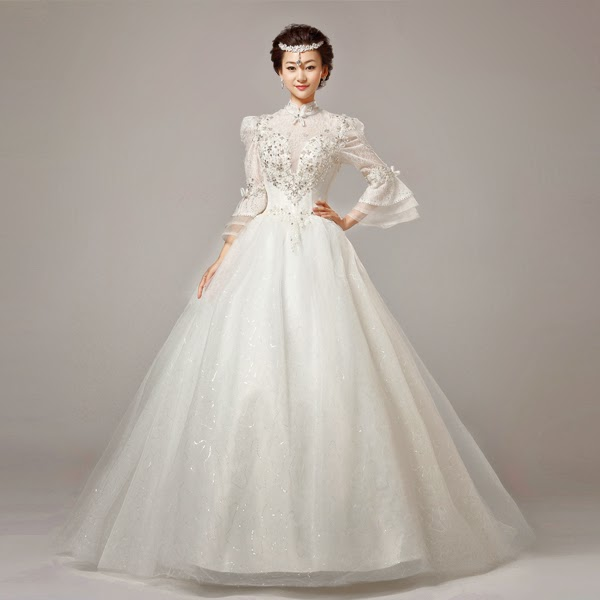 Butterfly Wedding Gown: Long Butterfly Sleeves Wedding Gown :: My Gown Dress