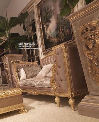 MEBEL SOFA TAMU KLASIK ITALY MEBEL INTERIOR KLASIK ITALY WARNA GOLD UNTUK RUMAH DAN HOTEL INTERIOR KLASIK