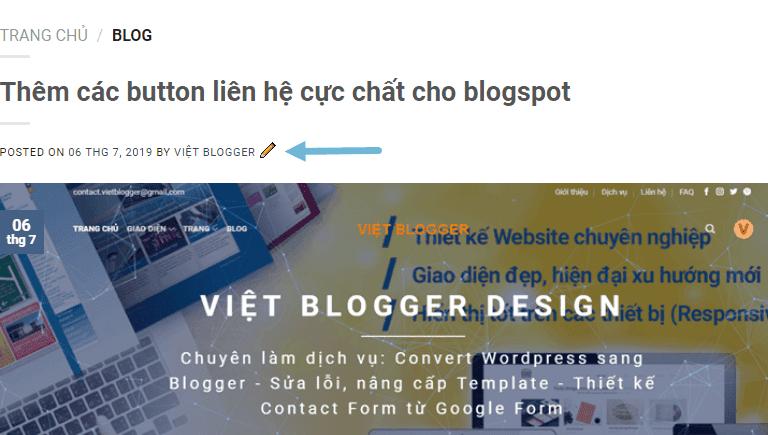 Cách thêm lại cây bút chì huyền thoại vào bài viết trong widget Blog version 2 để chỉnh sửa nhanh