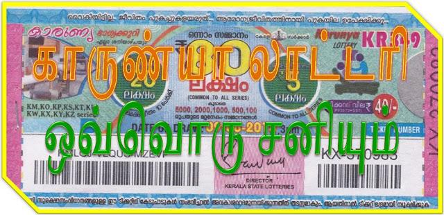 Karunya lottery on all Saturdays Kerala lottery result Karunya கேரள லாட்டரி காருண்யா ஒவொரு சனிக்கிழமைகளிலும்