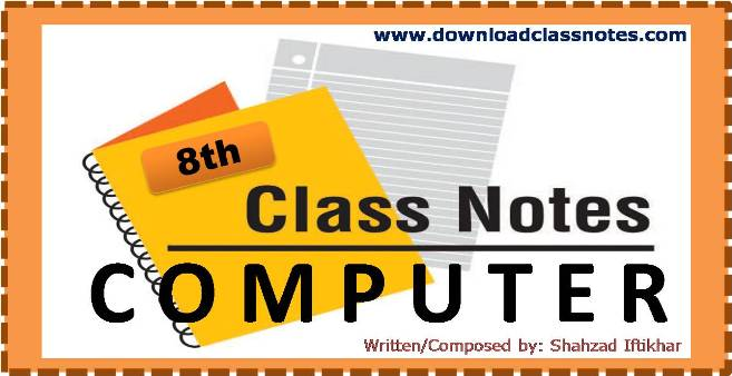 8th Class Computer Science Notes for Islamabad Schools and Colleges