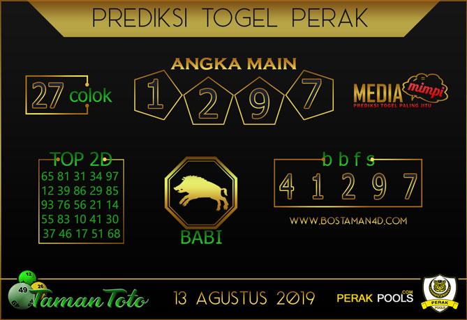Prediksi Togel PERAK TAMAN TOTO 13 AGUSTUS 2019