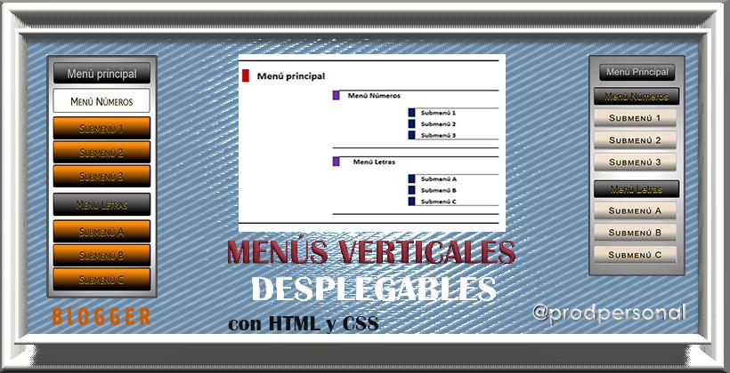 Menús verticales desplegables solo con HTML y CSS