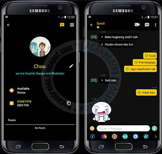 bbm Mopd Black gold Theme v3.0.1.25 Apk terbaru For Android
