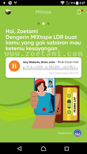 Fitur Mixtape di App by.U