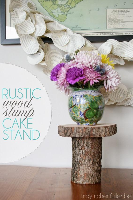 Diy Rustic Wood Stump Cake Stand