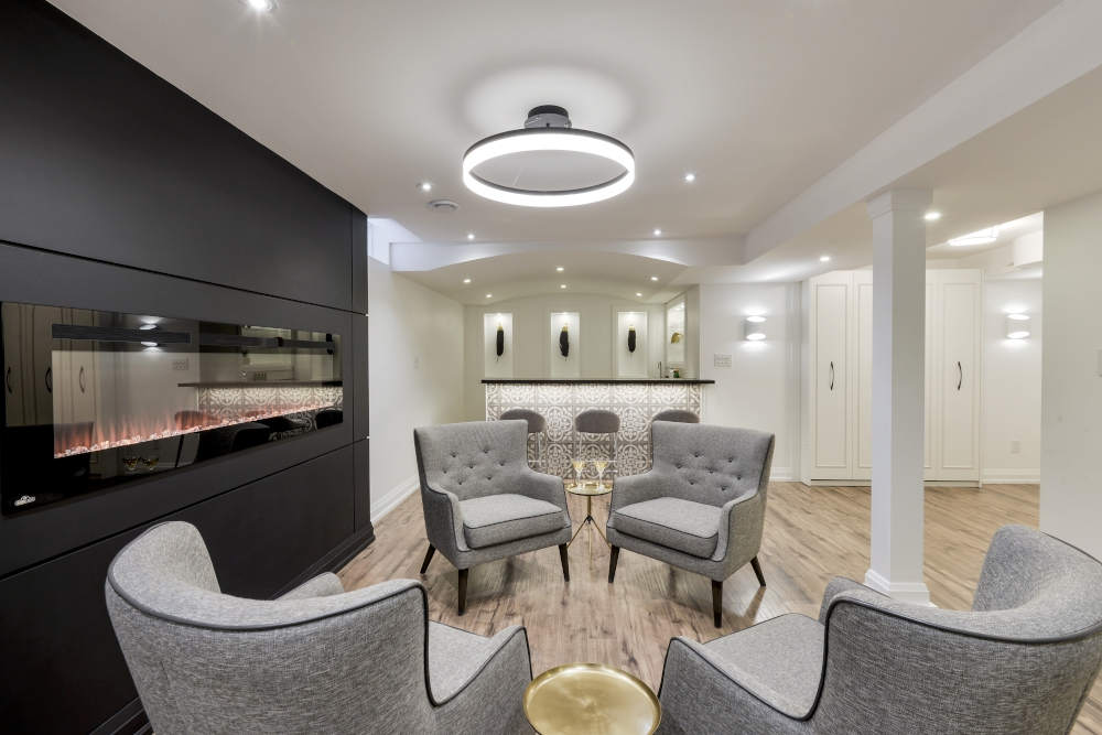 Modern basement in misssissauga