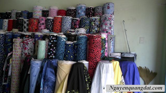 + Thu mua vải cây thun 4 Chiều In bông Hàn Quốc