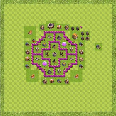 War Base Town Hall Level 6 By Nishikantcoc (Nishi hh TH 6 Layout)
