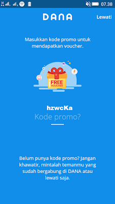 kode undangan aplikasi dana android