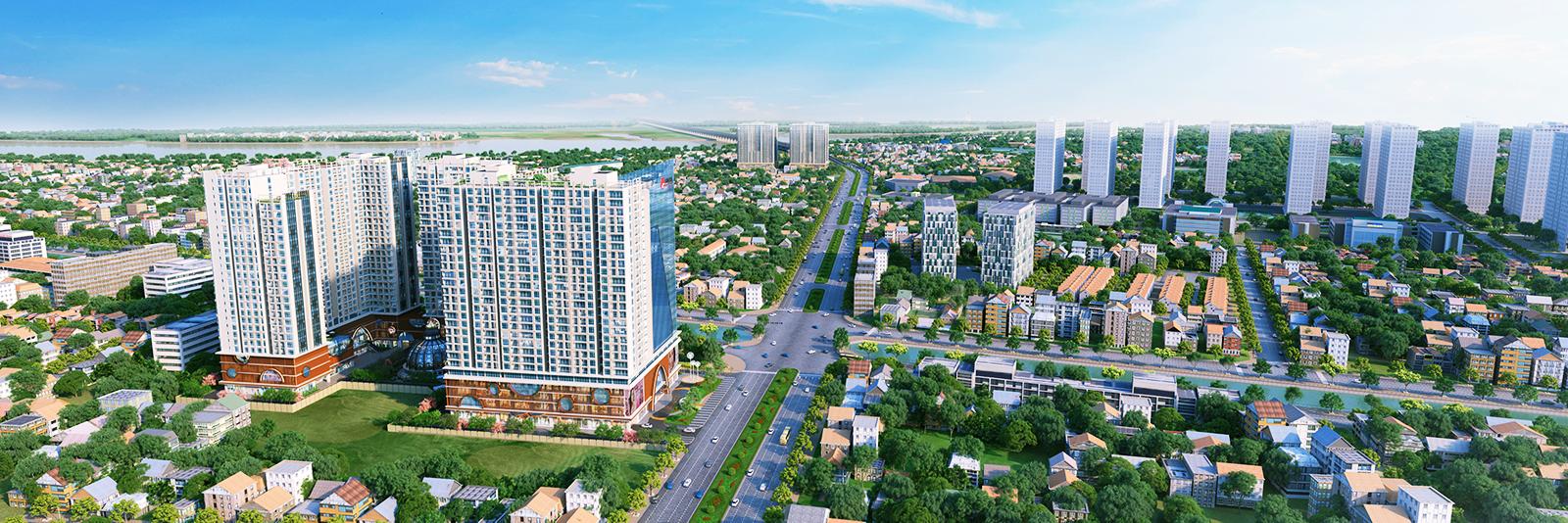 Toàn cảnh của dự án Hinode City 201 Minh Khai