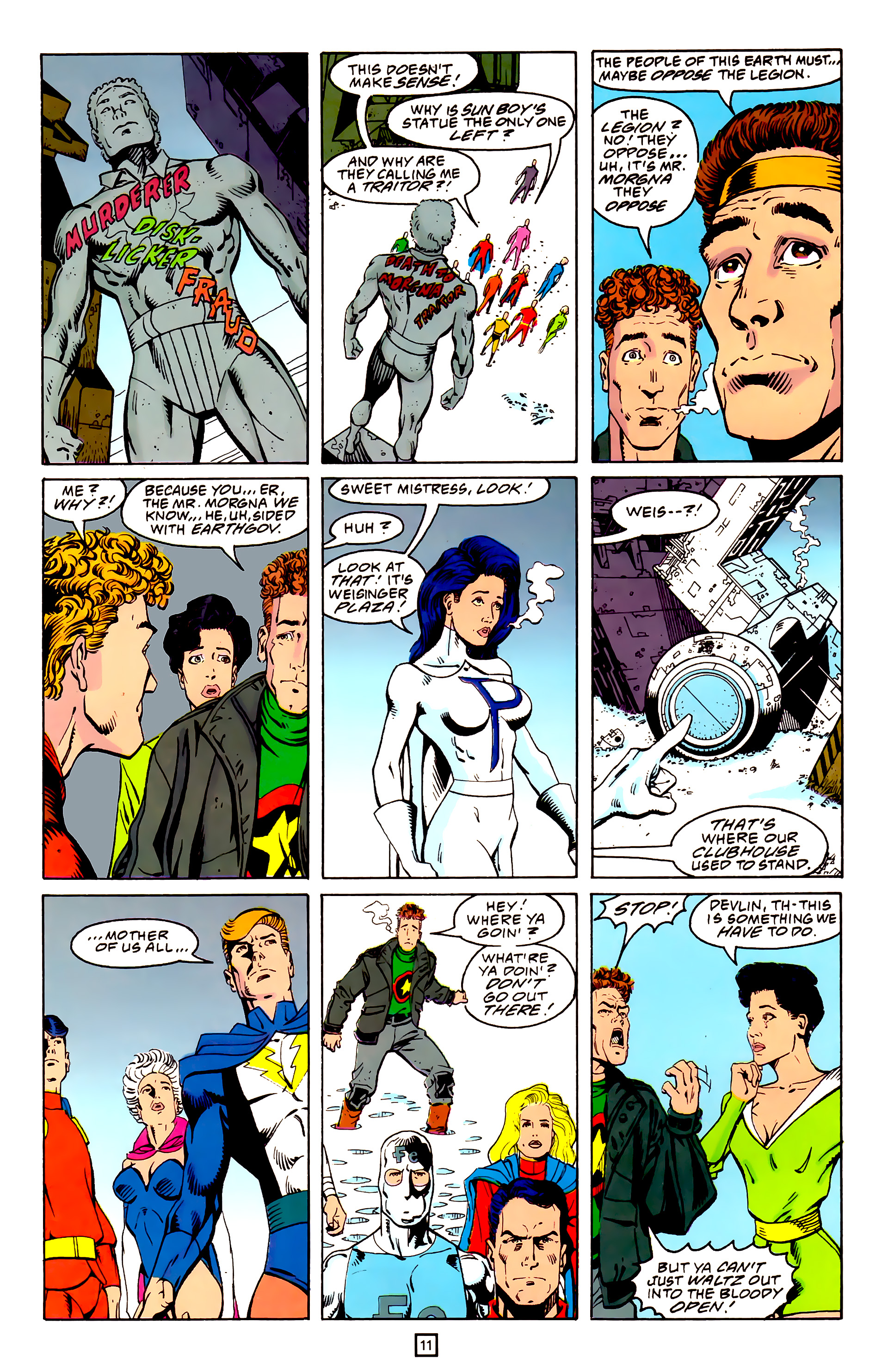 Legion of Super-Heroes (1989) 25 Page 11