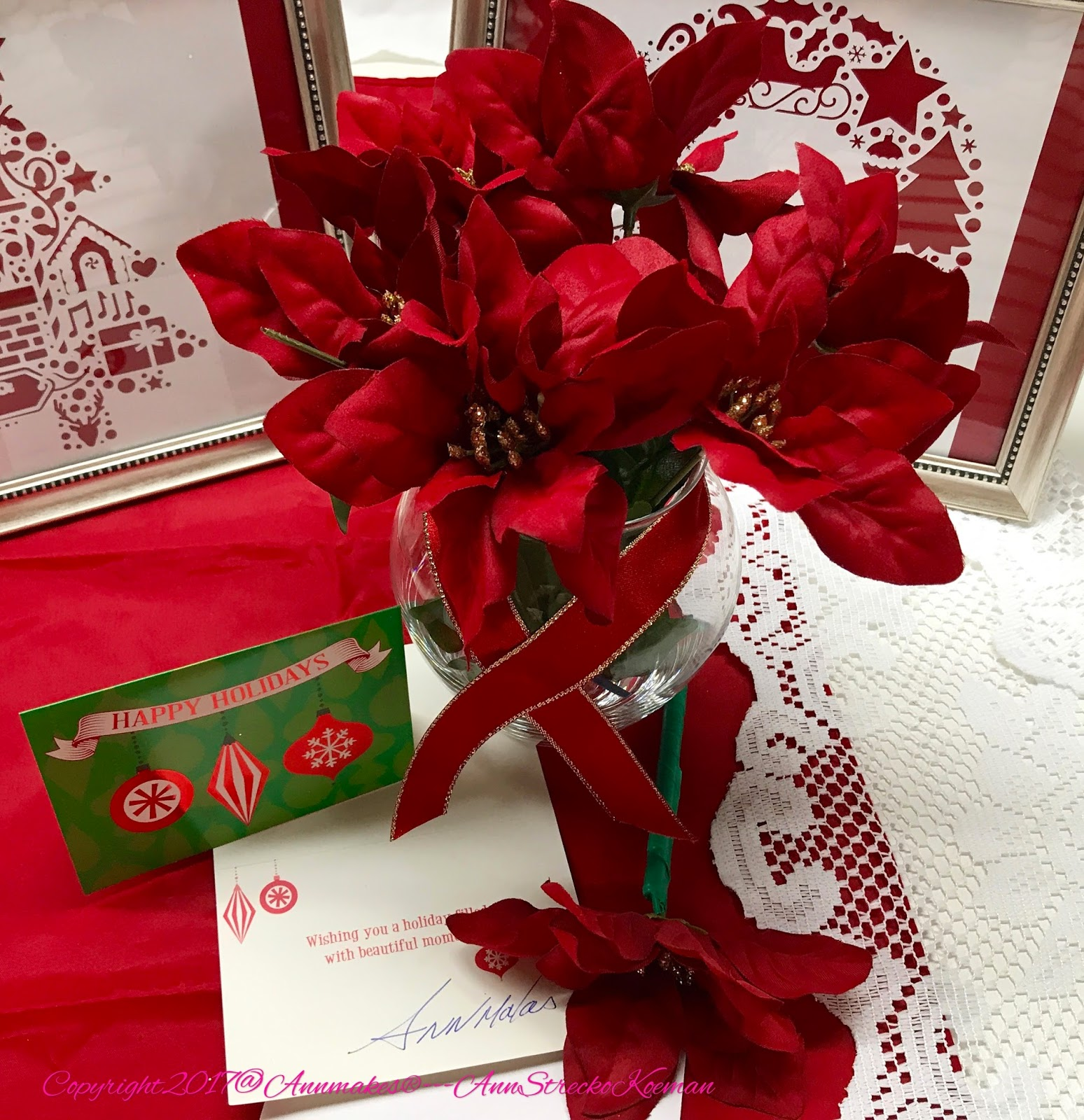Annmakes®: Easy DIY Poinsettia Pen Bouquet