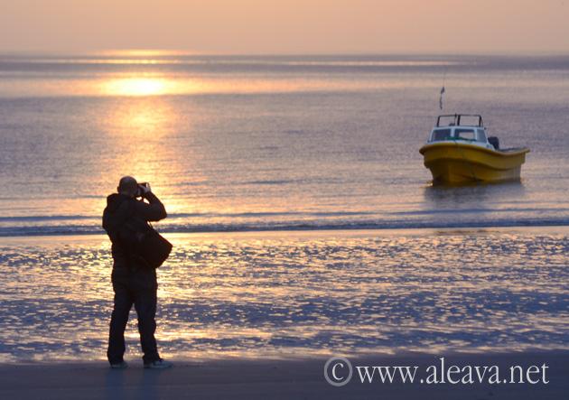 Amanecer en la Playa de Puerto Madryn