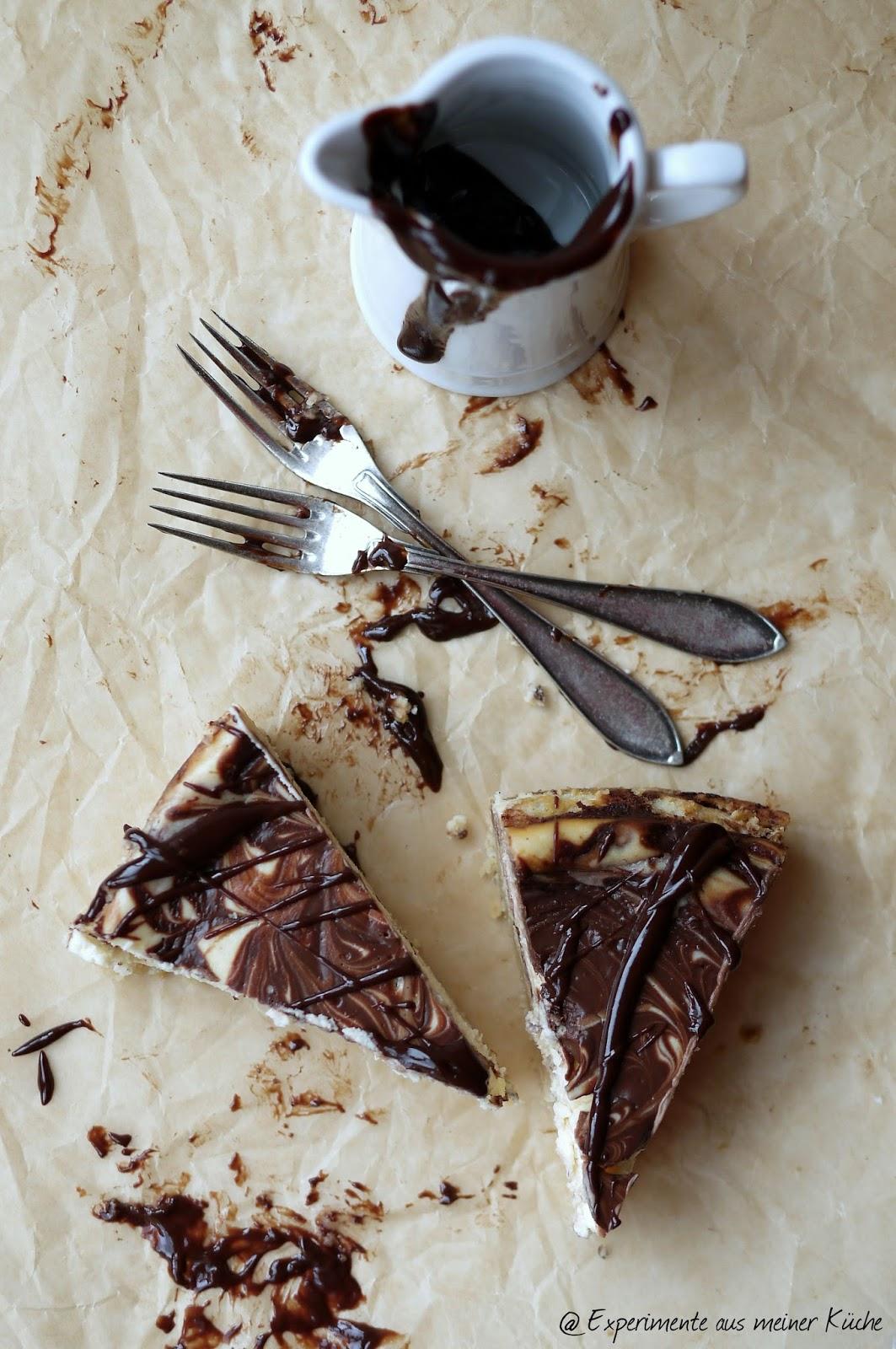 Experimente aus meiner Küche: Cheesecake mit Schokoswirl
