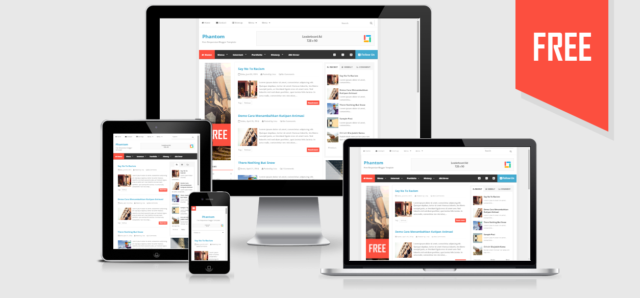 PHANTOM RESPONSIVE BLOGGER TEMPLATES ~Note-Iqbal26 - Note ...