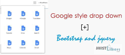 Google style drop down