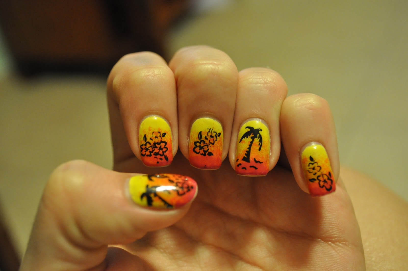 Jessica S Nail Art Tropical Nails