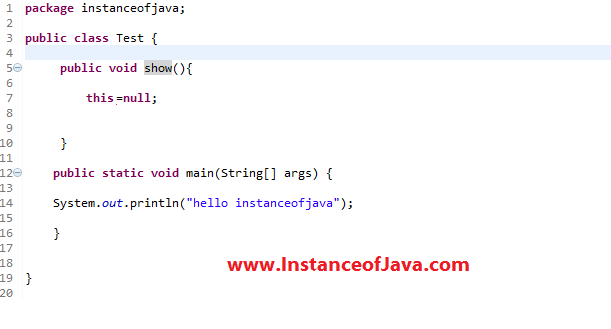 java mcq online test on this keyword