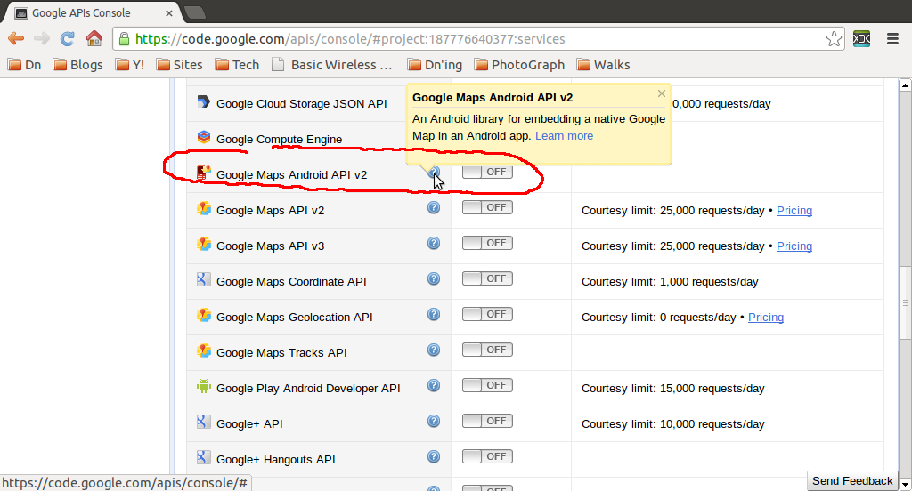 Google Maps Api Key Code