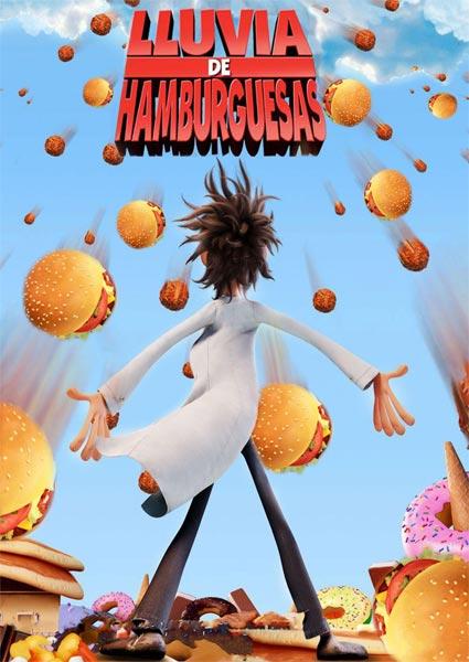 Lluvia de Hamburguesas (HD 720P y español Latino 2009) poster box code